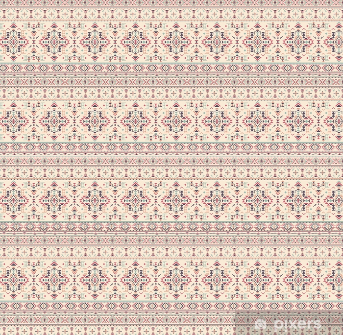 Colorful ethnic seamless pattern with geometric shapes. Vinyl custom-made wallpaper - Graphic Resources