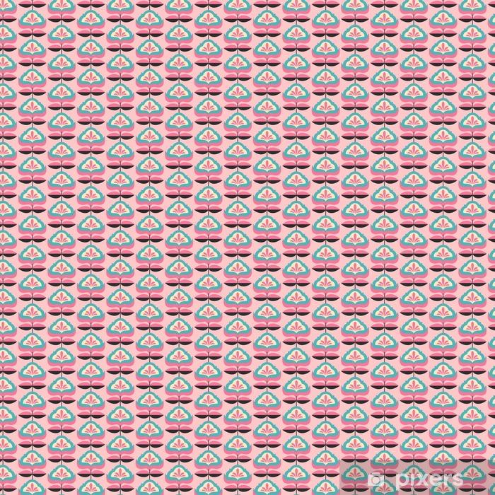 Spesialtilpasset vinyltapet Sømløs vintage blomstermønster - Grafiske Ressurser