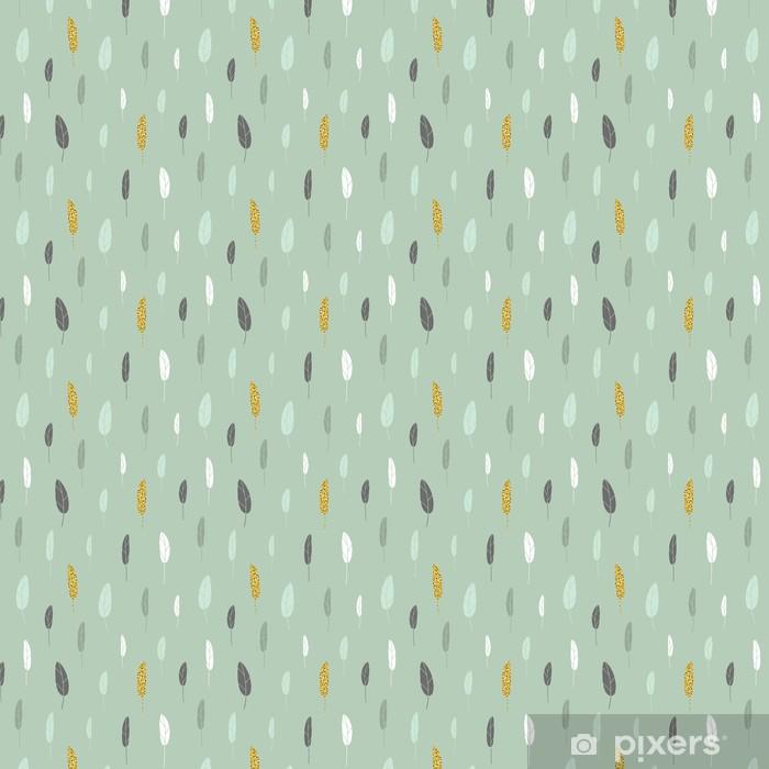 Leaf pattern. Vinyl custom-made wallpaper - Graphic Resources