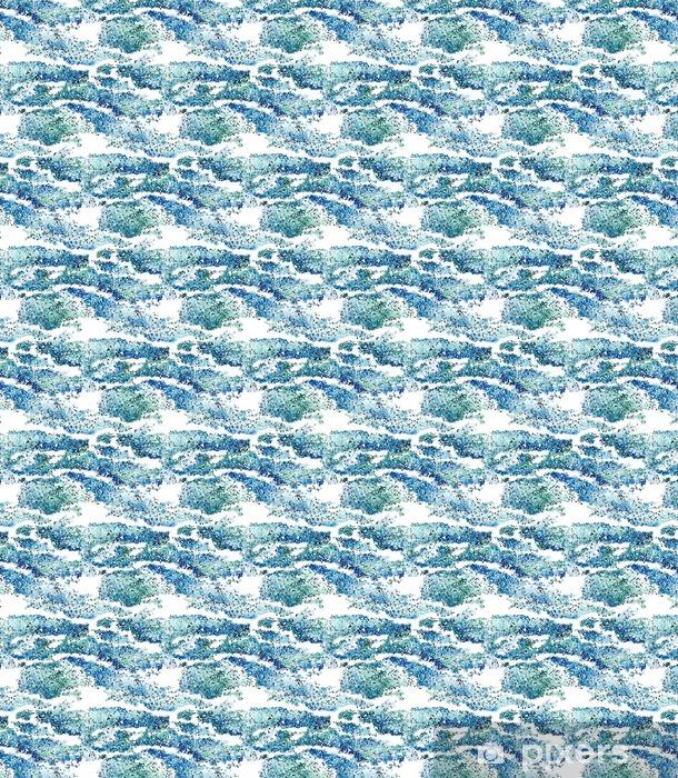 Papier peint vinyle sur mesure Seamless des vagues abstraites et de la mousse des points. - Ressources graphiques