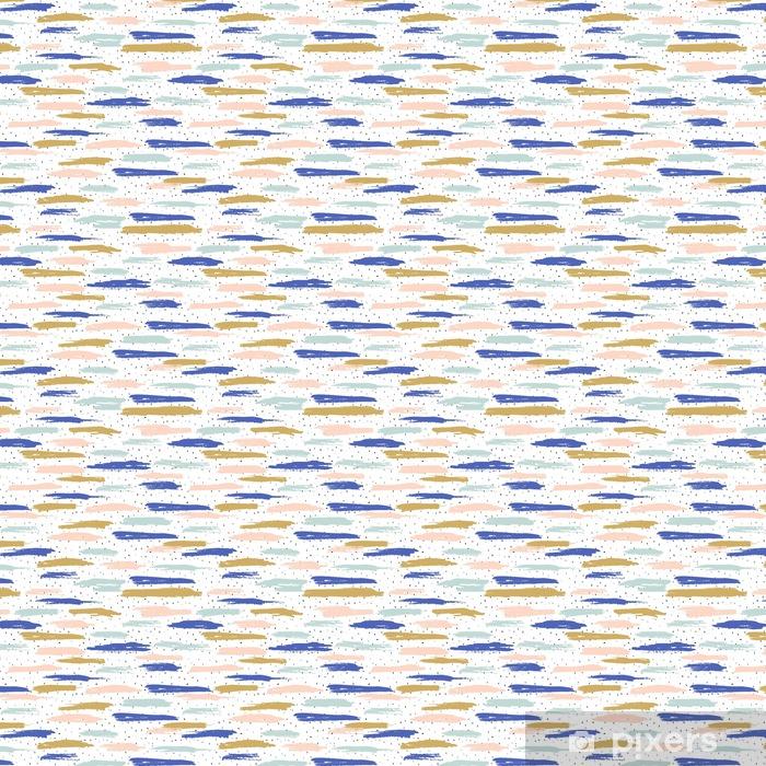 Tapeta na wymiar winylowa Streszczenie ręcznie rysowane wzór. Powtórz kolorowych odbitek do owijania, tapety, tkaniny - Zasoby graficzne