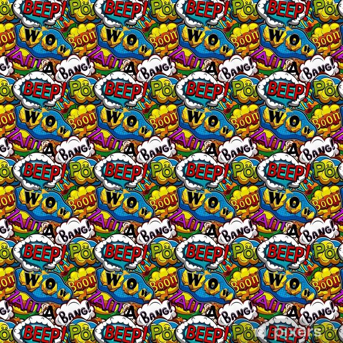 Vinyltapete nach Maß Mehrfarbige Comics Rede sprudelt nahtloses Muster - Grafische Elemente