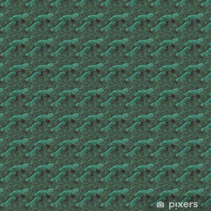 Tapeta na wymiar winylowa Akwarela liści palmowych saemless wzór na ciemnym tle. - Rośliny i kwiaty