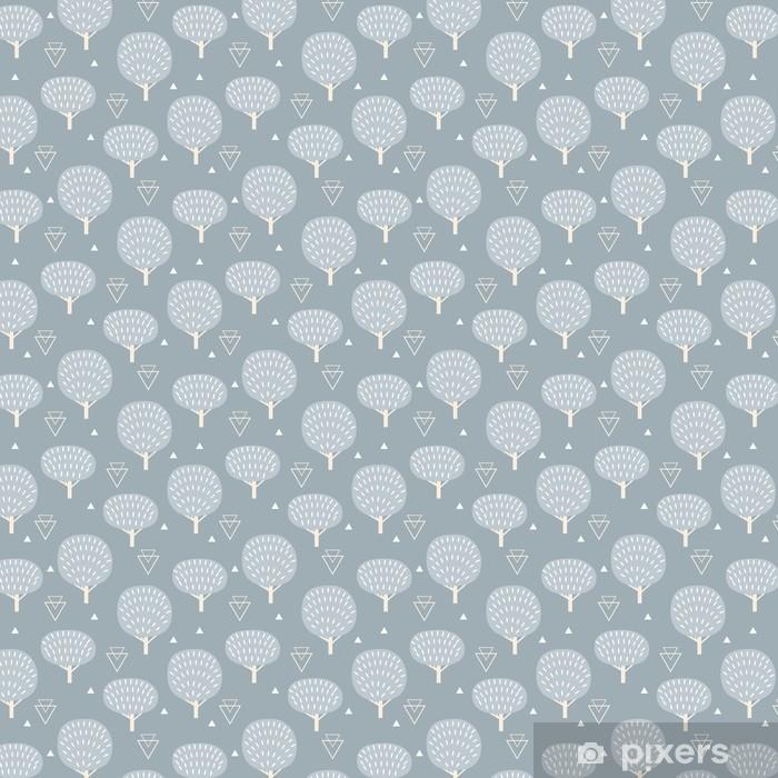 Vinyl behang, op maat gemaakt Naadloos patroon in moderne Scandinavische stijl. Vector geometrie achtergrond in het noorden van de natuur. -