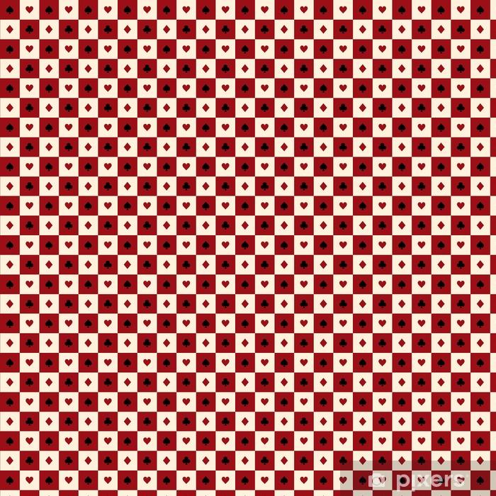 Papier peint vinyle sur mesure Carte costumes rouge bourgogne crème beige noir blanc échiquier fond illustration vectorielle - Ressources graphiques