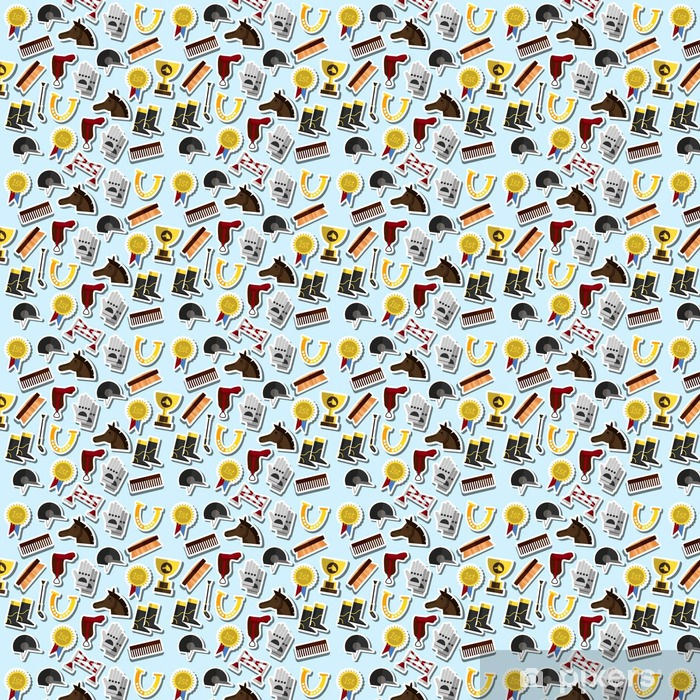 Vinylová tapeta na míru Barva jízda na koni vzor - Grafika