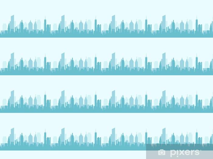 Tapeta na wymiar winylowa Panoramę miasta - ilustracji wektorowych - Budynki i architektura