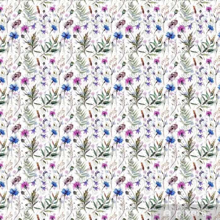 Tapeta na wymiar winylowa Ręcznie rysowane kwiaty akwarela - Rośliny i kwiaty