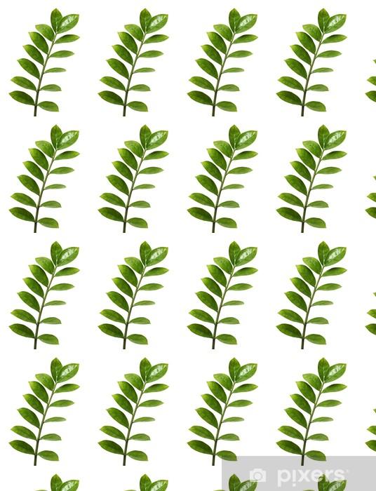 Papier peint vinyle sur mesure Branche avec des feuilles vertes - Paix