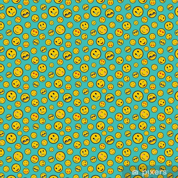 Tapeta na wymiar winylowa Słodkie emoji wzorów bez szwu wzór - Zasoby graficzne