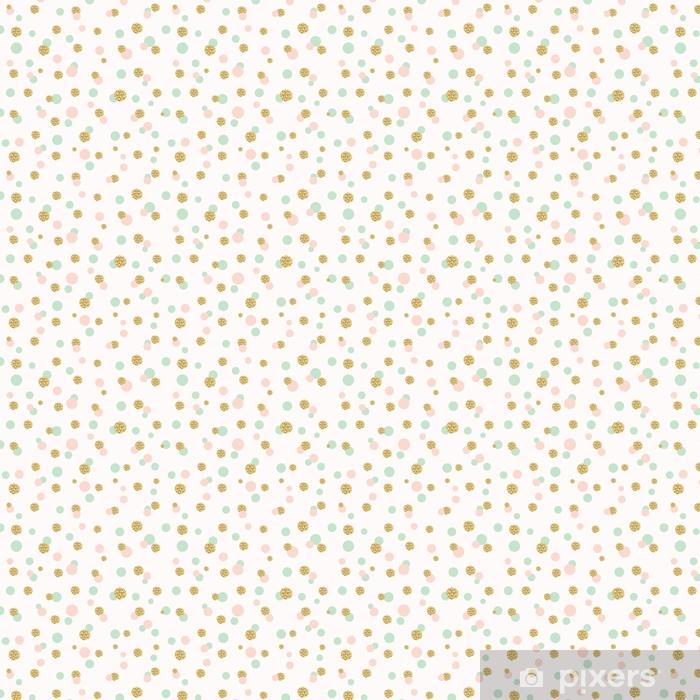 Papier peint vinyle sur mesure Modèle sans couture de paillettes confettis polka dot. - Passe-temps et loisirs