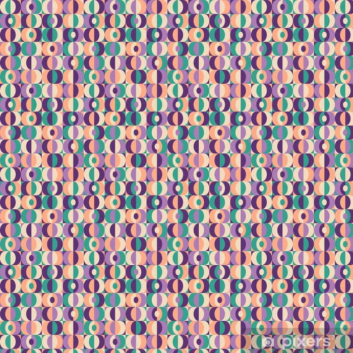 Vinyl behang, op maat gemaakt Naadloze vintage geometrisch patroon - Grafische Bronnen