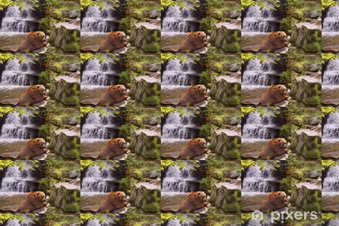 Tapeta na wymiar winylowa Ogromny niedźwiedź brunatny w wodzie - Tematy