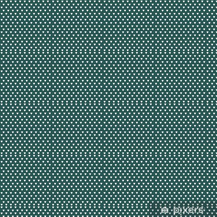 Zelfklevend behang, op maat gemaakt Naadloze vector patroon met witte harten op pastel achtergrond - Grafische Bronnen