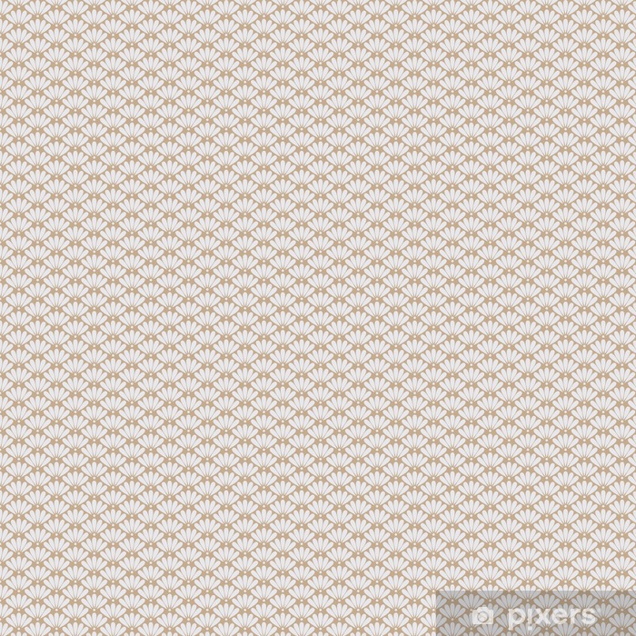 Seamless beige oriental floral pattern vector Vinyl custom-made wallpaper - Graphic Resources