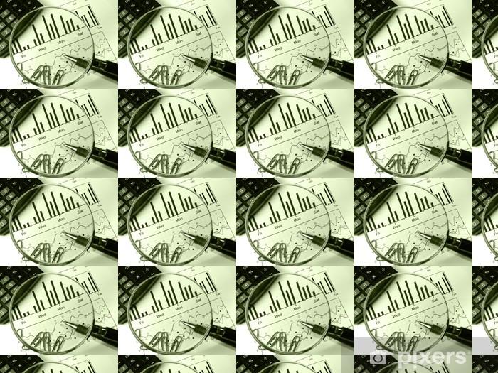 Papier peint vinyle sur mesure Calculatrice et loupe (dans les légumes verts) - Finance