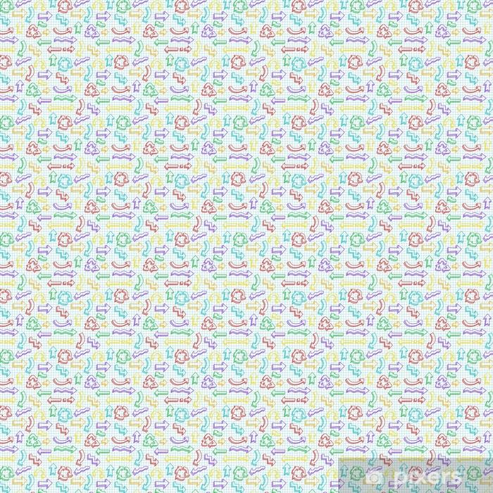 Vinyltapete nach Maß Vektor nahtlose Muster mit Hand gezeichneten Pfeile - Grafische Elemente