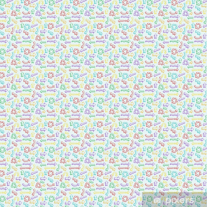 Vector seamless pattern with hand drawn arrows Vinyl custom-made wallpaper - Graphic Resources