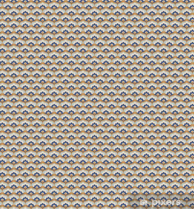 Zelfklevend behang, op maat gemaakt Naadloze vintage bloemmotief - Grafische Bronnen