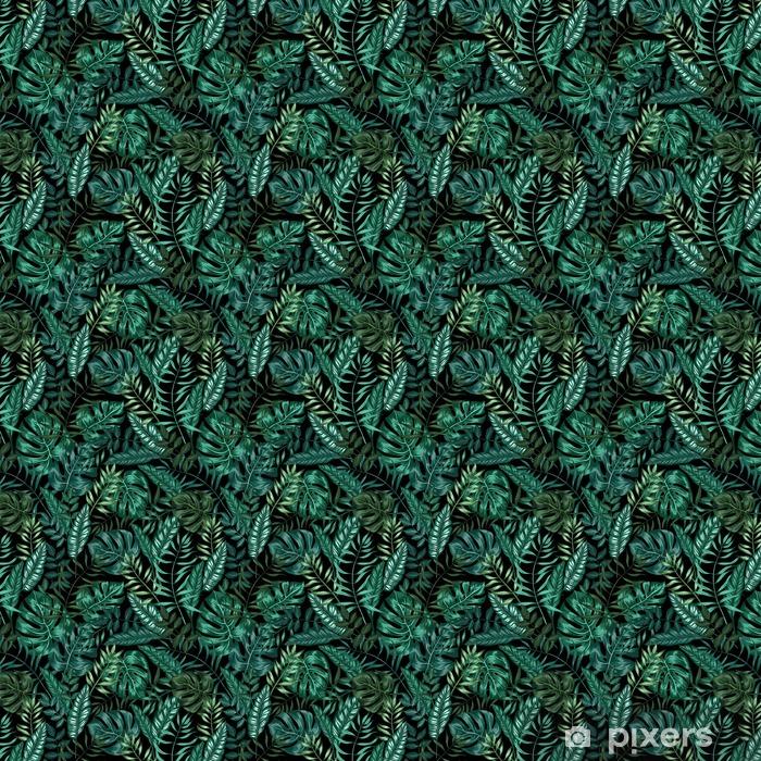 Papier peint à motifs autocollant Motif graphique transparent tropical nature jungle artistique, moderne feuillage élégant fond imprimer allover à la feuille fendue, philodendron, feuille de palmier, fougère frond - Ressources graphiques