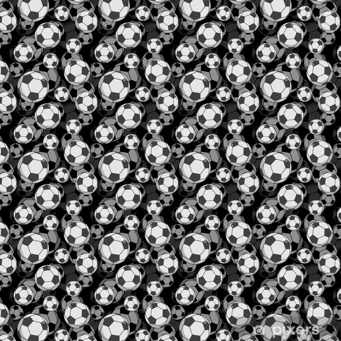 Football ball 3d seamless pattern. Sports accessory ornament. So Vinyl custom-made wallpaper - Sports