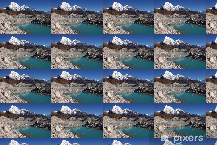 Picturesque nepalese landscape with a lake and Arakam Tse 6423m Vinyl custom-made wallpaper - Themes