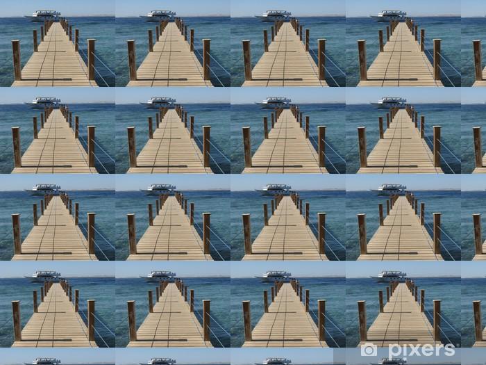 Papier peint vinyle sur mesure Promenade à la plage pour bateau - Vacances