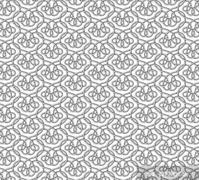 Tapeta na wymiar winylowa Wektor bez szwu przewodu plecionego - Zasoby graficzne