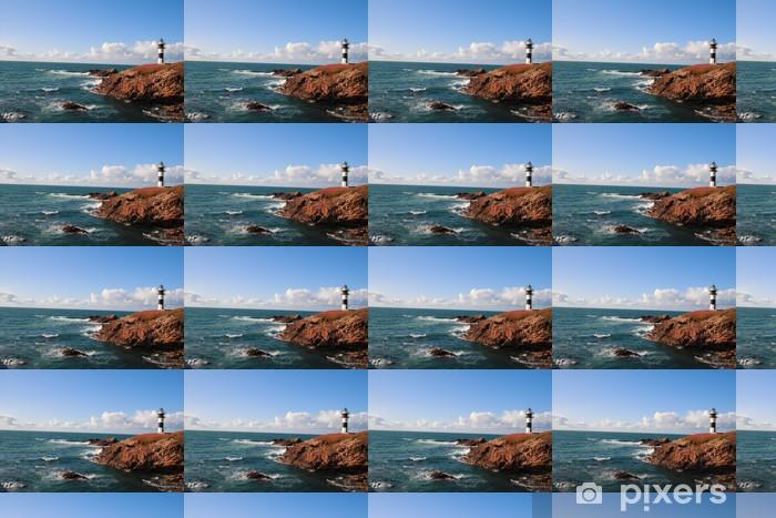 Vinylová tapeta na míru Faro de Illa Pancha (Ribadeo) - Voda