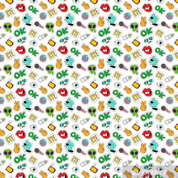 Tapeta na wymiar winylowa Zabawa ręcznie rysowane ikony plaster bez szwu wzór - Zasoby graficzne