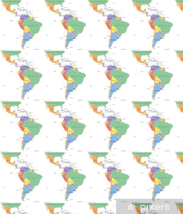 Lateinamerika Karte Länder.Tapete Lateinamerika Heißt Es Einzelne Politische Karte Die Länder In Verschiedenen Farben Mit Nationalen Grenzen Und Englischen Ländernamen Von