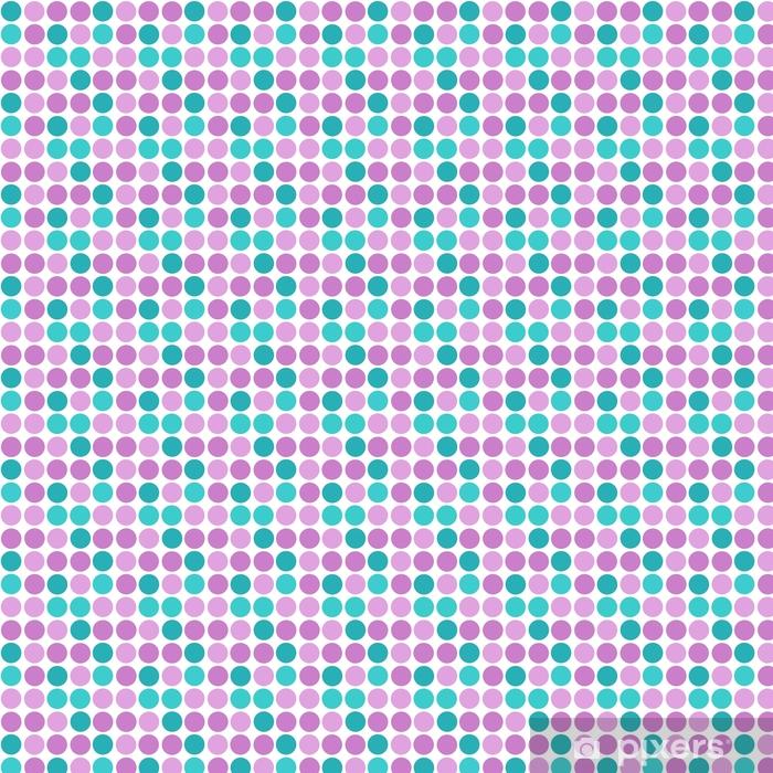 Vinyl behang, op maat gemaakt Abstracte eenvoudige moderne cirkels naadloze patroon textuur op wit - Grafische Bronnen