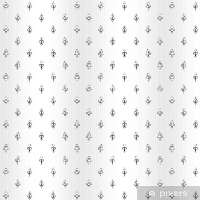 Seamless vector background. Vintage restrained damask pattern. Easily edit the colors. Vinyl custom-made wallpaper - Graphic Resources