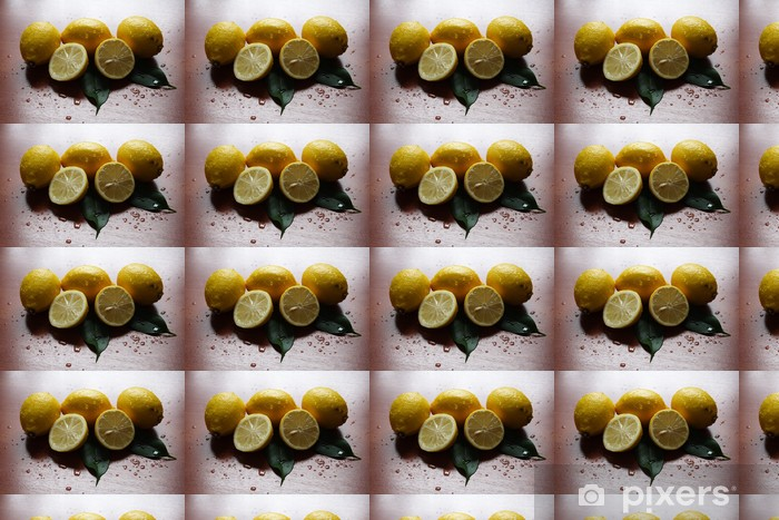 zitronen Vinyl custom-made wallpaper - Vegetables