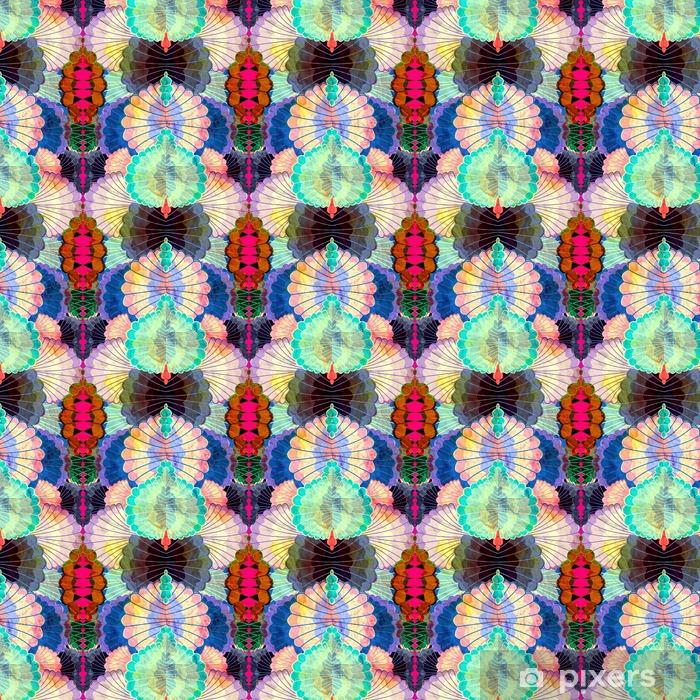Vesiväri monivärinen abstrakti elementtejä Räätälöity vinyylitapetti - Graafiset Resurssit