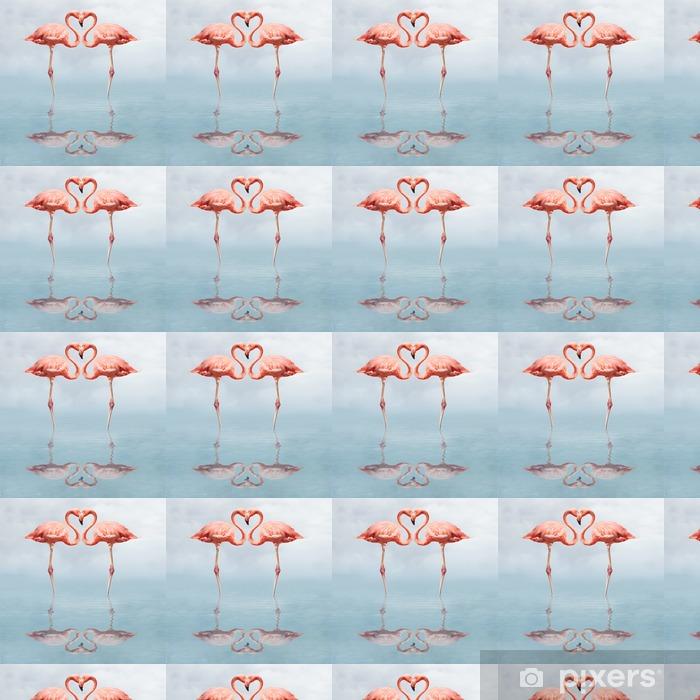 Tapeta na wymiar winylowa Making love - Flamingi