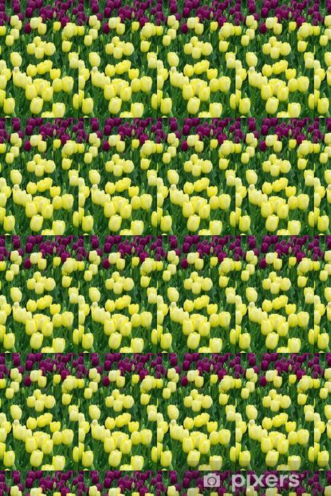 Carta da parati in vinile su misura Tulipani Gialli - Città Americane