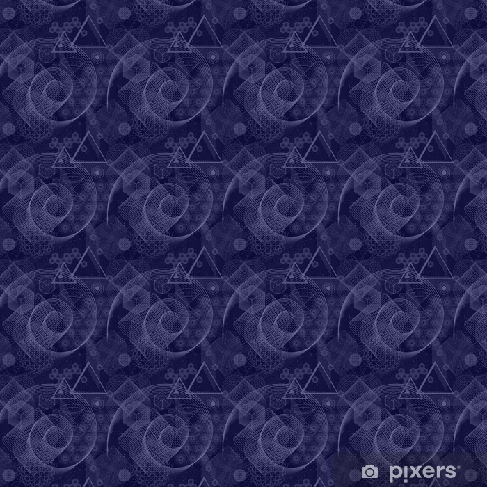 The science and mathematics abstract background with circles, cube, triangles and a lot of lines. Sacred geometry backdrop. The chemistry and astrology. Graphic elements for identity design. Vinyl custom-made wallpaper - Graphic Resources