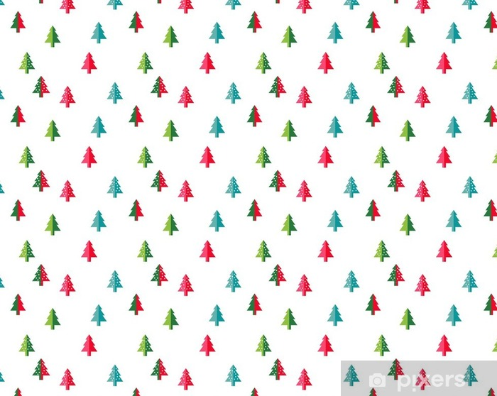 christmas tree seamless pattern for new year greeting cardwallpaper background vector illustration