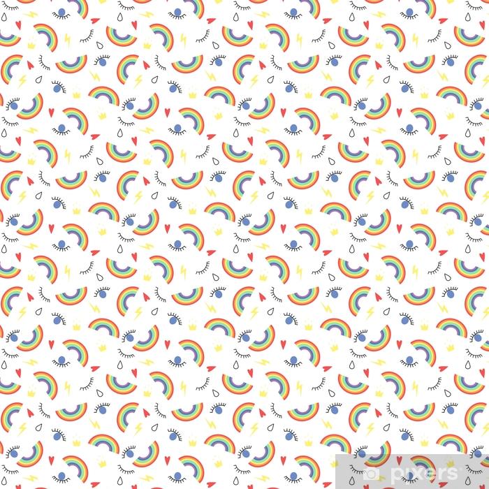 Papier Peint à Motifs Modèle Sans Couture Abstraite Avec Les Yeux Les Gouttes Les Arcs En Ciel Les Couronnes Fond De Mode Pour Fonds Décran