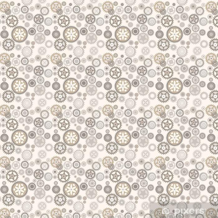 Clock cogwheels. Retro Seamless pattern. Vinyl custom-made wallpaper - Graphic Resources