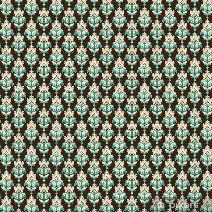 Seamless vector background. Vintage damask pattern. Easily edit the colors. Vinyl custom-made wallpaper - Graphic Resources