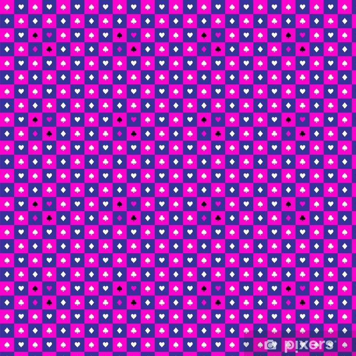 Papier peint vinyle sur mesure Carte costumes cosmos violet bleu rose échiquier fond illustration vectorielle - Ressources graphiques