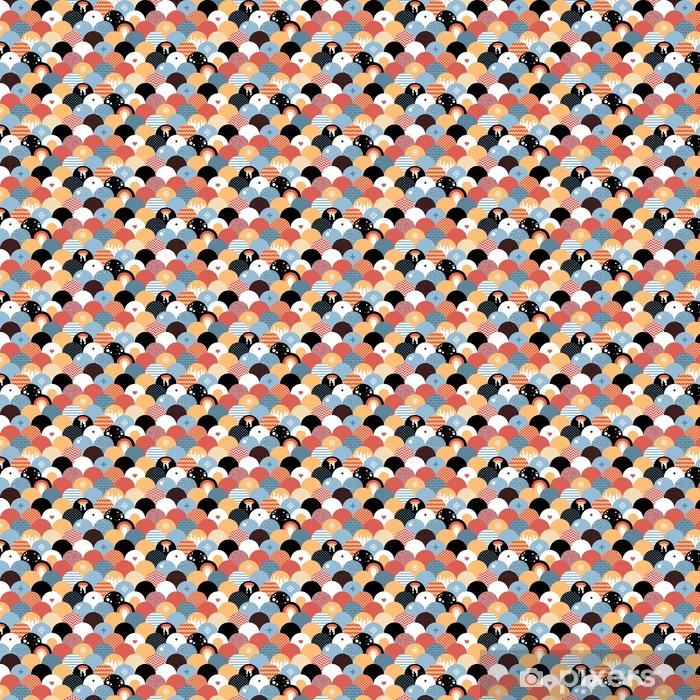 Tapeta na wymiar winylowa Bezproblemowa geometryczny wzór w stylu płaskiej. Przydatne do owijania, tapety i tekstyliów. - Zasoby graficzne