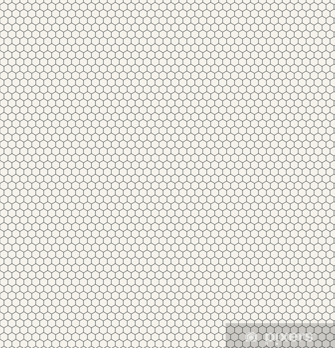 Papier peint vinyle sur mesure Motif graphique hexagonal géométrique noir et blanc - Ressources graphiques