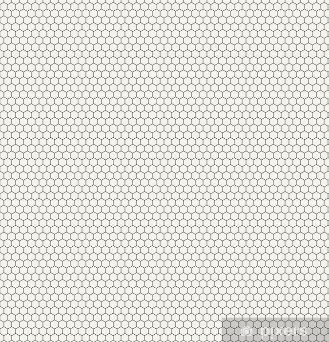 Tapeta na wymiar winylowa Sześciokąt geometryczny czarno-biały wzór graficzny - Zasoby graficzne