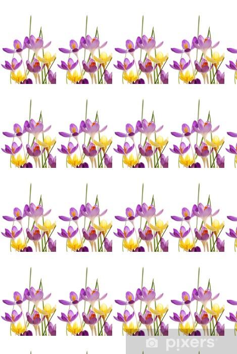 Vinylová tapeta na míru Jarní krokusy v zářivých barvách - Květiny