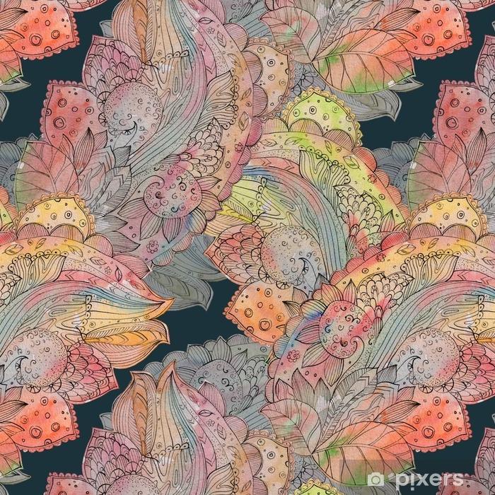 Vinylová Tapeta Módní bezešvých textur abstraktní květinovým vzorem. watercolo - Koníčky a volný čas