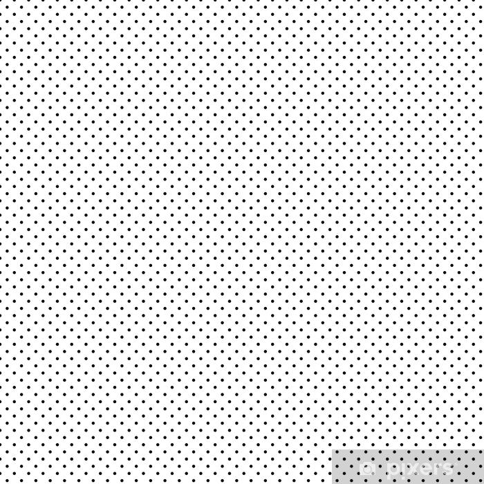 Spesialtilpasset vinyltapet Liten polka dot svart sømløs mønster vektor - Grafiske Ressurser