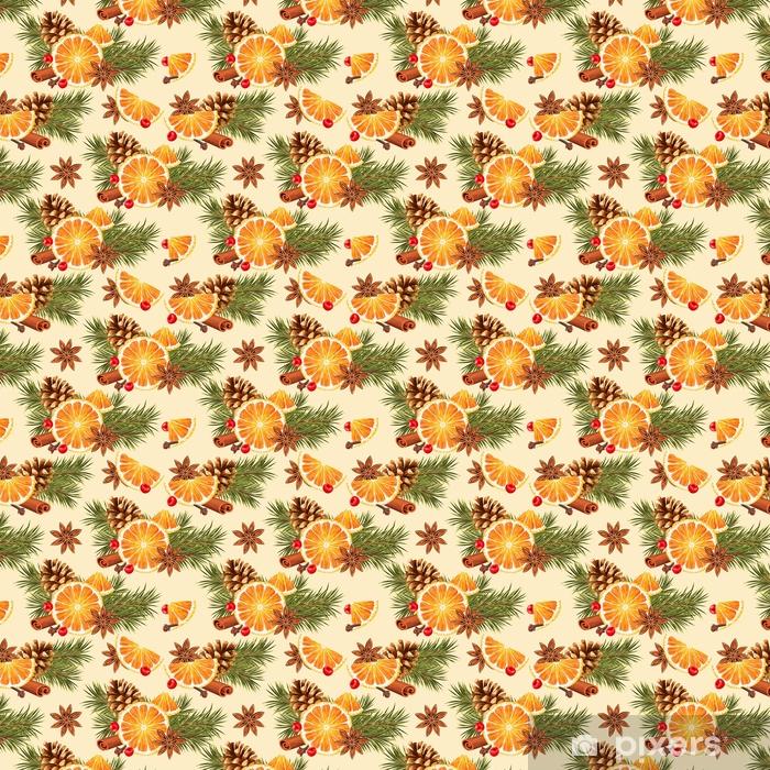 Vinylová tapeta na míru Bezproblémové pomeranče a koření - Jídlo
